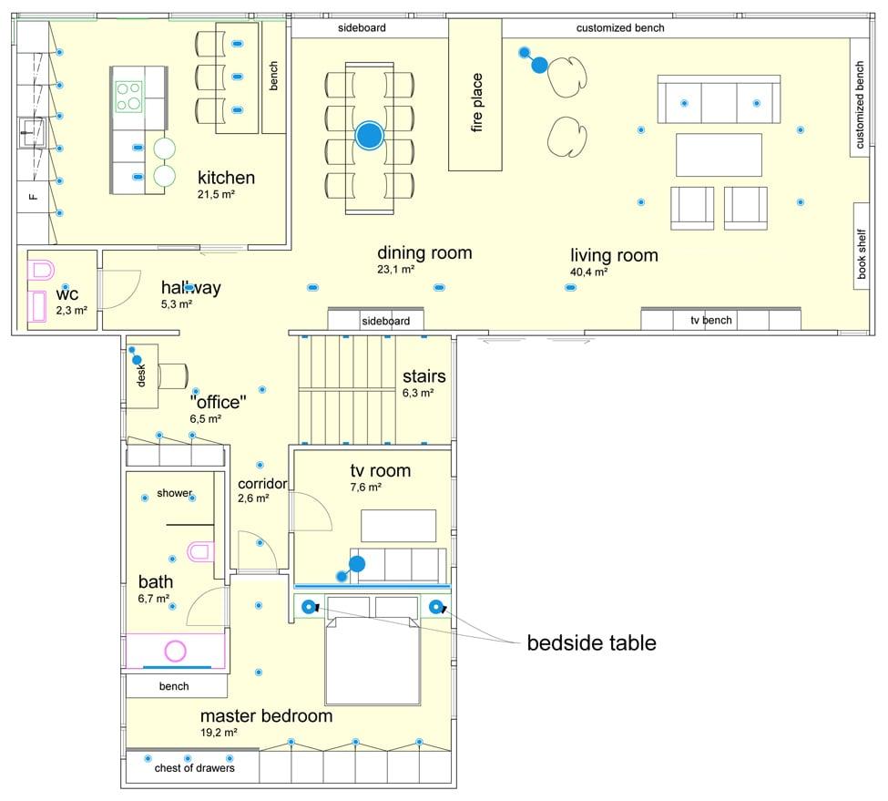 Hoeveel inbouwspots moet ik voorzien om een ruimte egaal te ...
